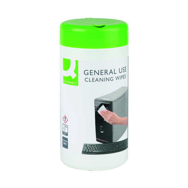 Phone Q-Connect General Use Cleaning Wipes (100 Pack) KF04508
