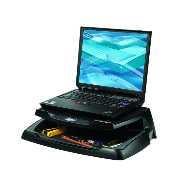 Risers Q-Connect Laptop and LCD Monitor Stand Black KF04553