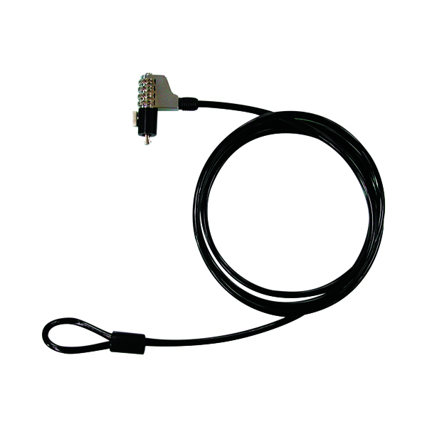 Q-Connect Laptop Computer Numerical Cable Lock KF04556