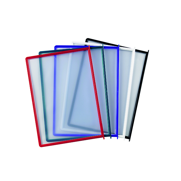 Literature Holders Q-Connect Quick Load Pockets Assorted (10 Pack) KF04599