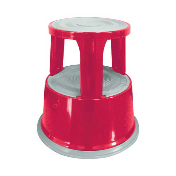 Steps Q-Connect Red Metal Step Stool KF04843