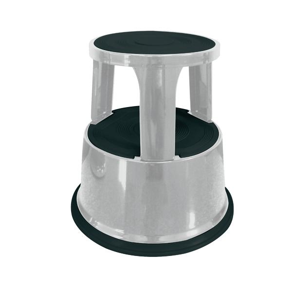 Q-Connect Light Grey Metal Step Stool KF04844