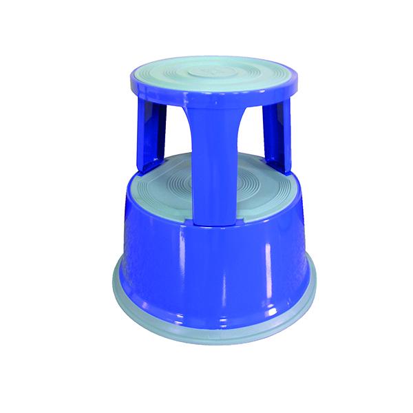 Q-Connect Blue Metal Step Stool KF04847