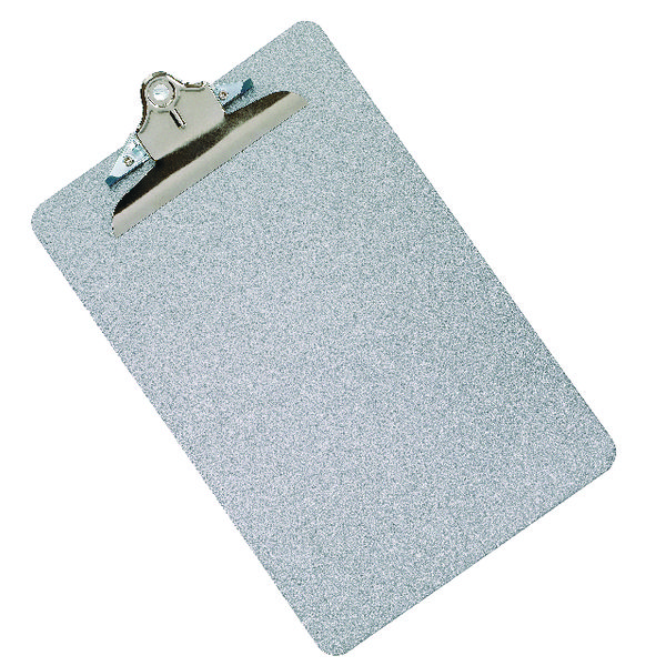 Q-Connect Metal Clipboard Foolscap Grey KF05595