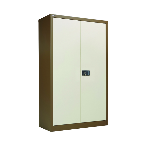 Cupboards H over 1200mm Jemini 2 Door 1806mm Storage Cupboard  Coffee/Cream KF08082