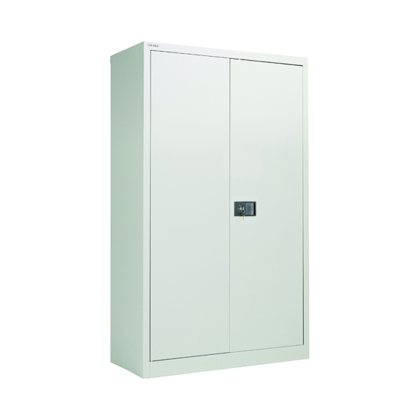 Cupboards H over 1200mm Jemini 2 Door 1806mm Storage Cupboard Grey KF08087