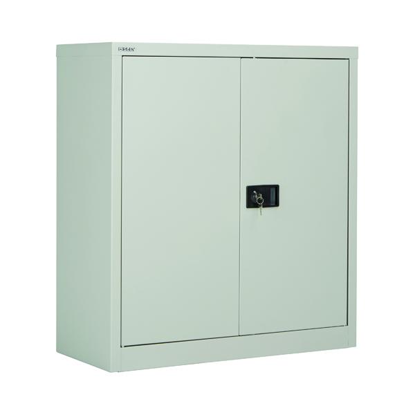 Cupboards H up to 1200mm Jemini 2 Door 1000mm Stationery Cupboard Grey KF08501