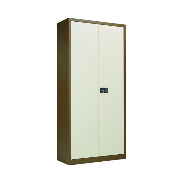 Cupboards H over 1200mm Jemini 2 Door 1950mm Storage Cupboard Coffee/Cream KF08502