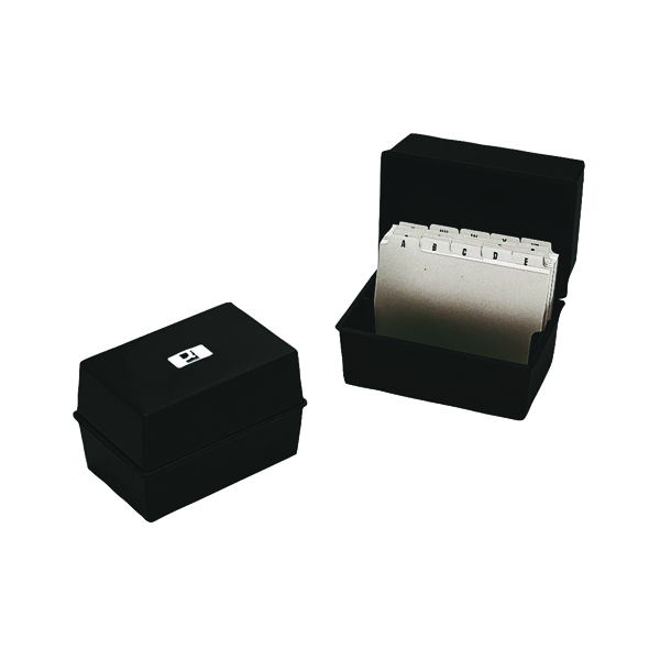 Card Index Storage Q-Connect Card Index Box 152 x 102mm Black KF10010