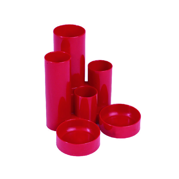 Organiser Q-Connect Desk Tidy Red MPTUBKPRED