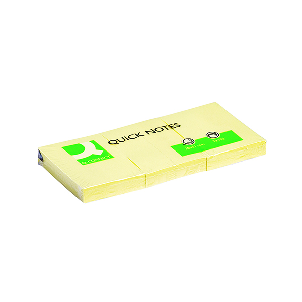 Q-Connect Quick Notes 38 x 51mm Yellow (12 Pack) KF10500