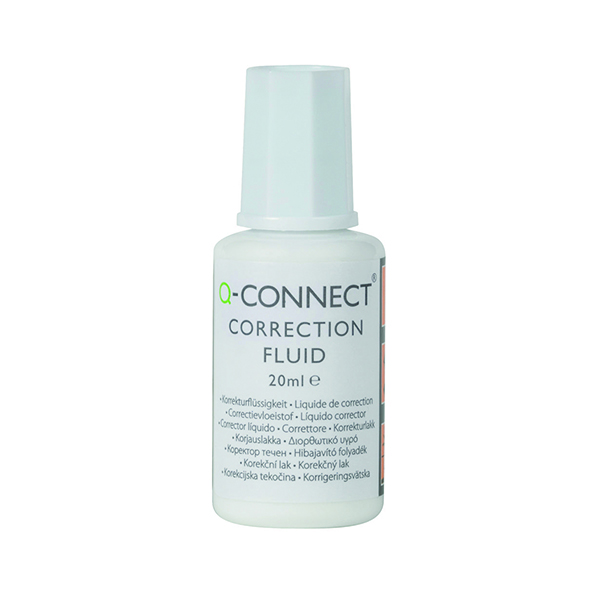 Correction Fluid Q-Connect Correction Fluid 20ml (10 Pack) KF10507Q