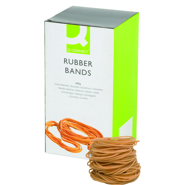 Q-Connect Rubber Bands No.18 76.2 x 1.6mm 500g KF10526