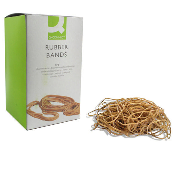 Rubber Bands Q-Connect Rubber Bands No.19 88.9 x 1.6mm 500g KF10527