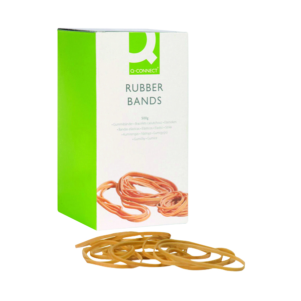 Rubber Bands Q-Connect Rubber Bands No.34 101.6 x 3.2mm 500g KF10539