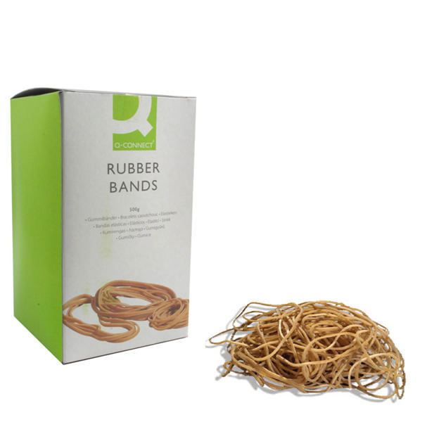 Rubber Bands Q-Connect Rubber Bands No.64 88.9 x 6.3mm 500g KF10549