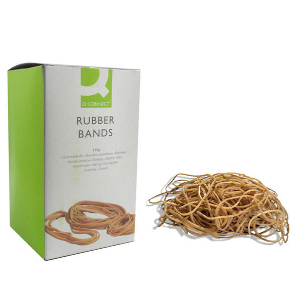 Rubber Bands Q-Connect Rubber Bands No.75 101.6 x 9.5mm 500g KF10560