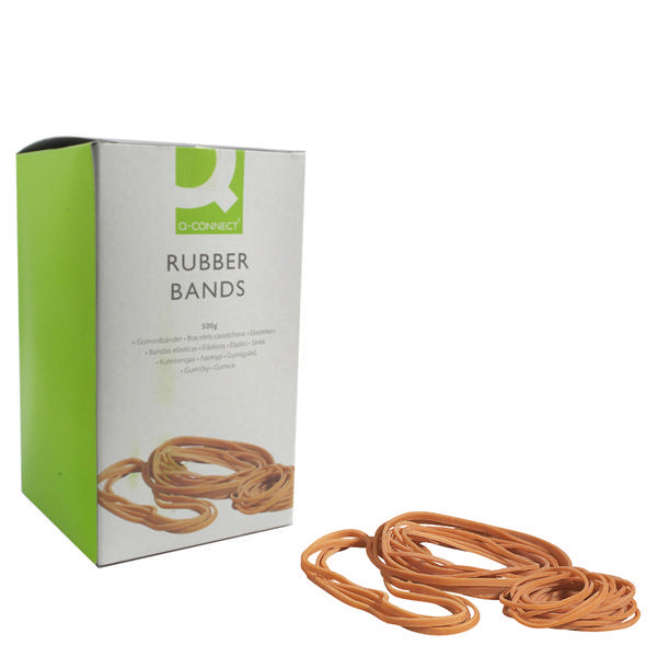 Rubber Bands Q-Connect Rubber Bands No.89 152.4 x 12.7mm 500g KF10573