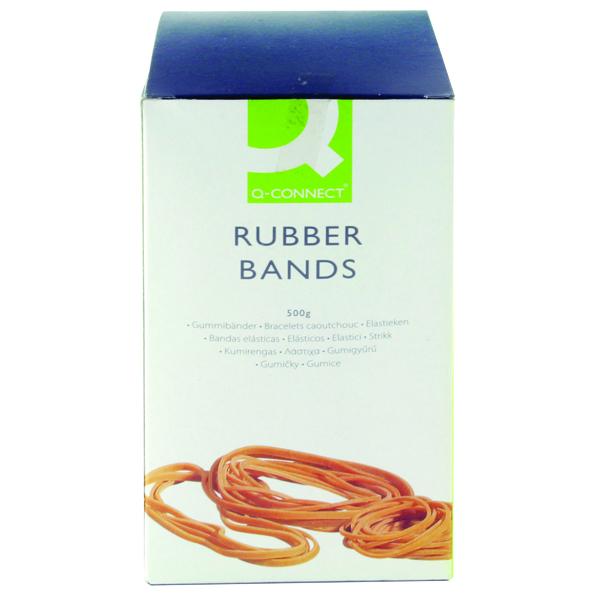 Rubber Bands Q-Connect Rubber Bands Assorted Sizes 500g KF10577