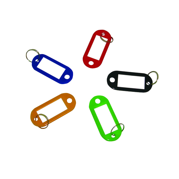 Key Rings Q-Connect Key Fobs Assorted (100 Pack) KF10869