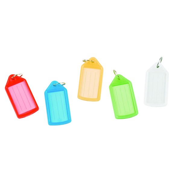 Key Rings Q-Connect Sliding Key Fob Assorted (40 Pack) KF10878