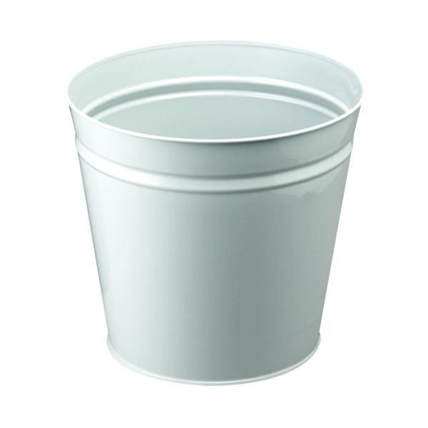 Rubbish Bins Q-Connect Metal Waste Bin 15 Litre Grey KF12011