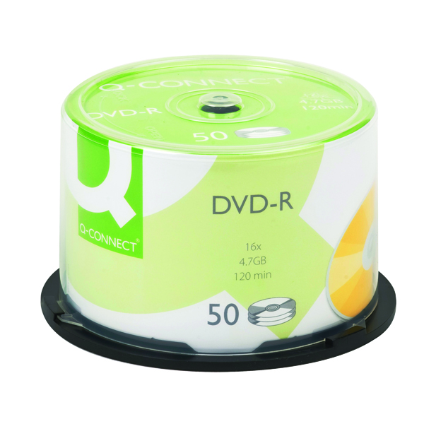 Q-Connect DVD-R 4.7GB Cake Box (50 Pack) KF15419
