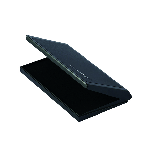 Black Q-Connect Large Stamp Pad Black KF15440