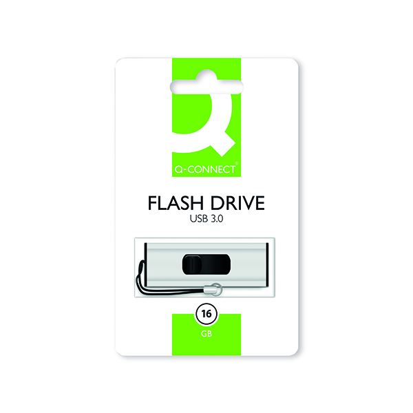 Unspecified Q-Connect Silver/Black USB 3.0 Slider Flash Drive 16GB 43202005 KF16369
