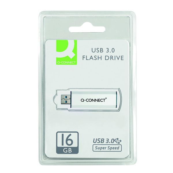 Q-Connect Silver/Black USB 3.0 Slider Flash Drive 16GB 43202005 KF16369