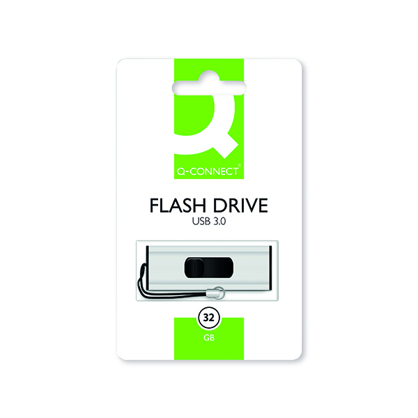 Unspecified Q-Connect Silver/Black USB 3.0 Slider Flash Drive 32GB 43202005 KF16370
