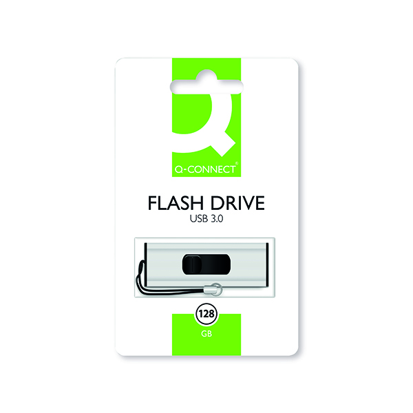 Q-Connect USB 3.0 Slider Flash Drive 128GB KF16375
