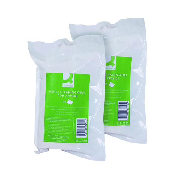 General Q-Connect Telephone and Surface Wipes Refill (200 Pack) ABTW100RQCA