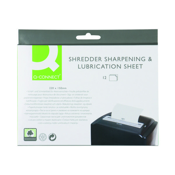 Unspecified Q-Connect Shredder Sharpening and Lubrication Sheet 220x150mm KF18470