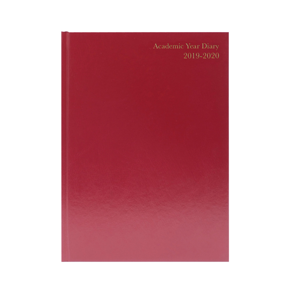 Academic Diary A4 Day Per Page 2019-20 Burgundy KF1A4ABG19