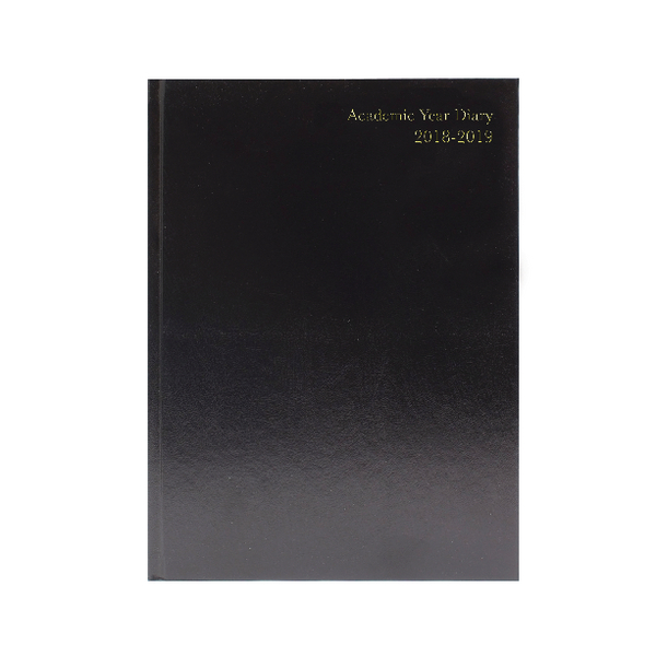 Day a Page Black 2018/19 A4 Academic Diary Day/Page KF1A4ABK18