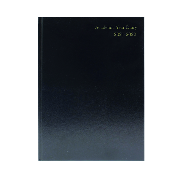 Academic Academic Diary Day Per Page A4 Black 2021-22 KF1A4ABK21