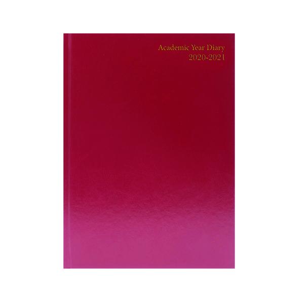 Diaries Academic Diary Diary Day Per A5 Burgundy 2020-21 KF1A5ABG20