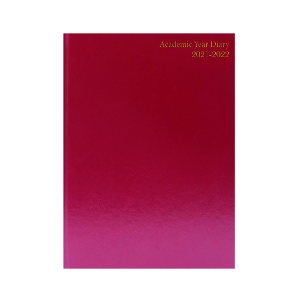 Academic Academic Diary Day Per Page A5 Burgundy 2021-22 KF1A5ABG21