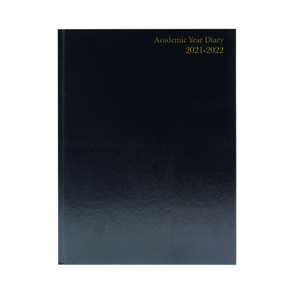 Academic Academic Diary Day Per Page A5 Black 2021-22 KF1A5ABK21