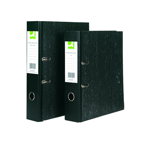 A4 Size Q-Connect Lever Arch File A4 Black (10 Pack) KF20001