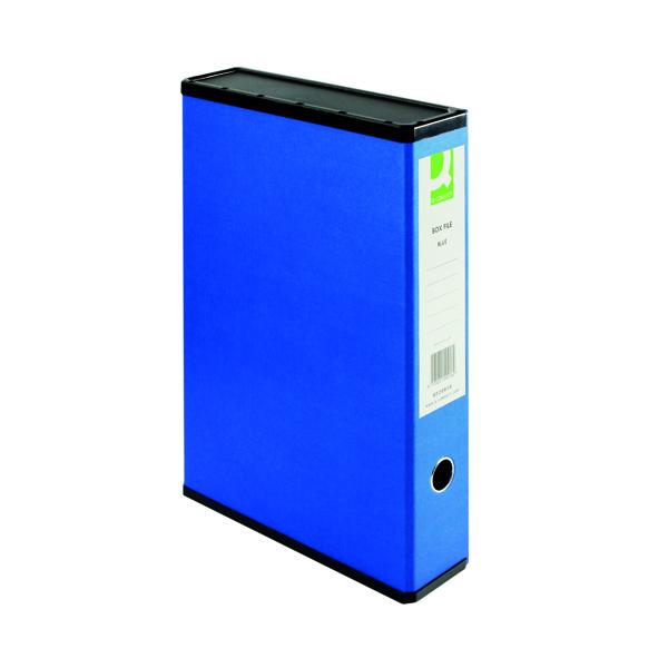 Box Files Q-Connect 75mm Box File Foolscap Blue (5 Pack) 31813KIN0