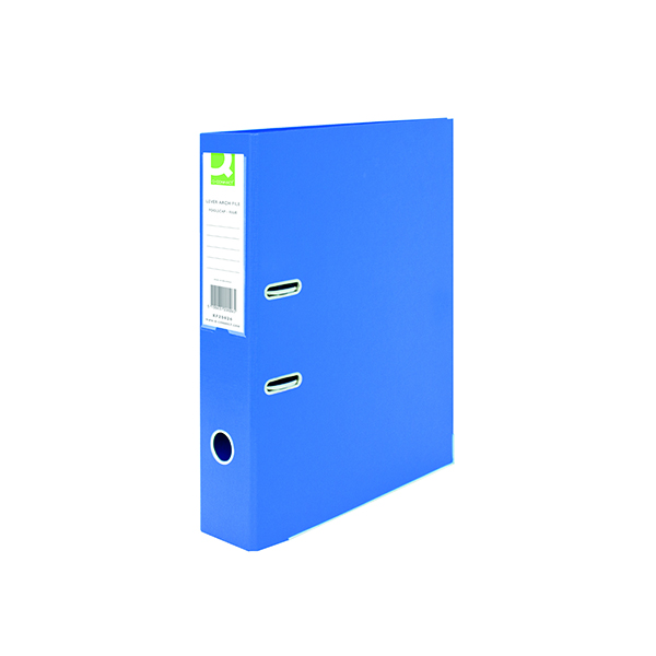 Foolscap (Legal) Size Q-Connect 70mm Lever Arch File Polypropylene Foolscap Blue (10 Pack) KF20026