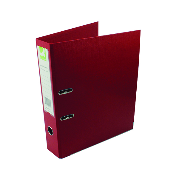 Foolscap (Legal) Size Q-Connect 70mm Lever Arch File Polypropylene Foolscap Red (10 Pack) KF20027