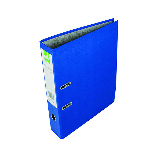 Q-Connect Lever Arch File Paperbacked Foolscap Blue (10 Pack) KF20030