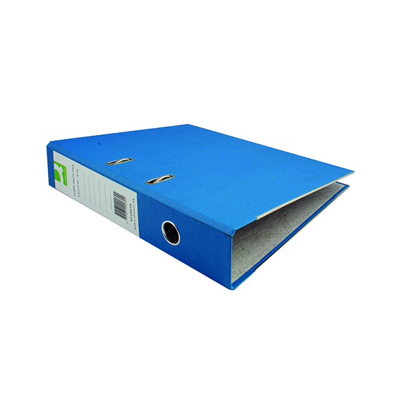 Foolscap (Legal) Size Q-Connect Paper-Backed Blue Lever Arch Foolscap File KF20030X