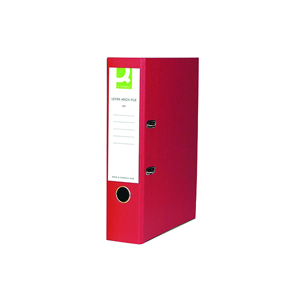 Foolscap (Legal) Size Q-Connect Paper-Backed Red Lever Arch Foolscap File KF20031X