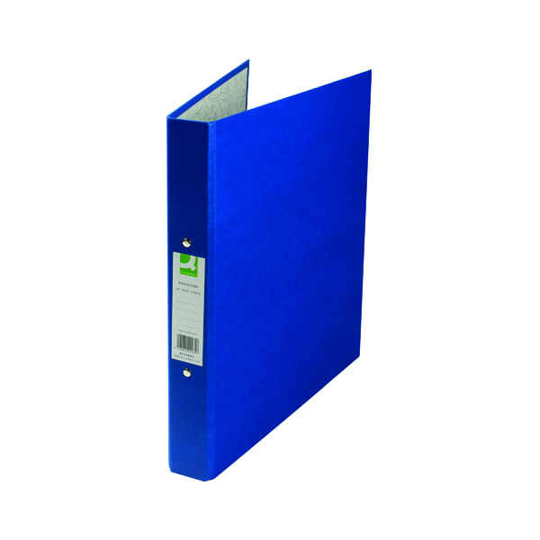 A4 Size Q-Connect 2 Ring 25mm Paper Over Board Blue A4 Binder (10 Pack) KF20035