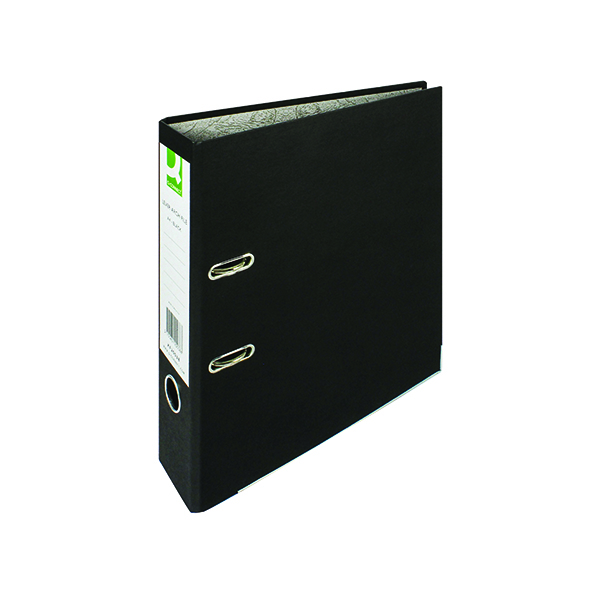 Q-Connect Lever Arch File Paperbacked A4 Black (10 Pack) KF20038
