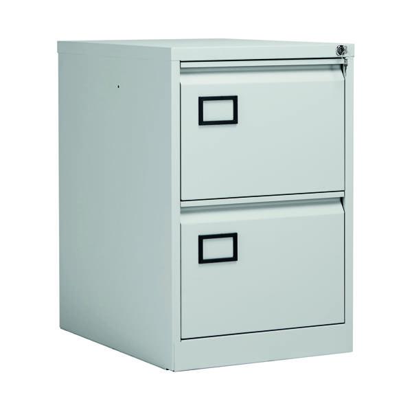 Jemini 2 Drawer Filing Cabinet Light Grey KF20042